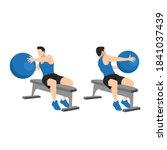 man doing bench swiss. fitness... | Shutterstock .eps vector #1841037439