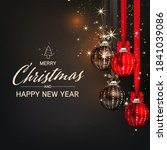 luxury christmas social media...   Shutterstock .eps vector #1841039086