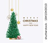 christmas social media promote... | Shutterstock .eps vector #1841043010