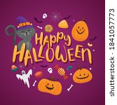 happy halloween banner or party ... | Shutterstock .eps vector #1841057773