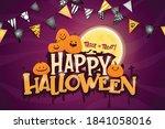 happy halloween or party...   Shutterstock .eps vector #1841058016