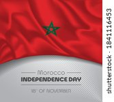morocco happy independence day... | Shutterstock .eps vector #1841116453