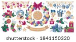 a set of christmas and new year ... | Shutterstock .eps vector #1841150320