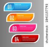 modern four part text box...   Shutterstock .eps vector #1841157793