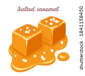 salted caramel pieces isolated...   Shutterstock .eps vector #1841158450