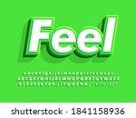 bold 3d green text effect.... | Shutterstock .eps vector #1841158936