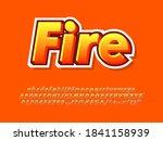 modern orange fire text effect. ... | Shutterstock .eps vector #1841158939