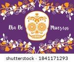 dia de muertos poster with... | Shutterstock .eps vector #1841171293