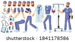 man doctor creation set.... | Shutterstock .eps vector #1841178586