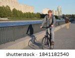 mature caucasian man in casual...   Shutterstock . vector #1841182540