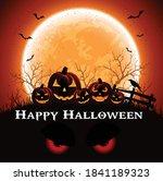 happy halloween banner or party ... | Shutterstock .eps vector #1841189323