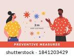 covid 19 preventive measures.... | Shutterstock .eps vector #1841203429