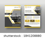 modern yellow abstract cover...   Shutterstock .eps vector #1841208880