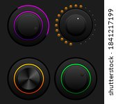 set of vector volume buttons