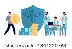 healthcare investment. man... | Shutterstock .eps vector #1841220793
