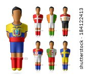 soccer   football players in... | Shutterstock .eps vector #184122413