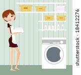 housewife | Shutterstock .eps vector #18412276