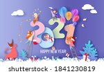 2021 new year design card with... | Shutterstock .eps vector #1841230819