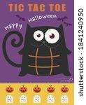halloween black cat tic tac toe ... | Shutterstock .eps vector #1841240950