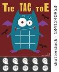 halloween vampire bat tic tac... | Shutterstock .eps vector #1841240953