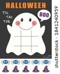 halloween ghost tic tac toe... | Shutterstock .eps vector #1841240959