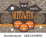 halloween party invite for your ... | Shutterstock .eps vector #1841244850