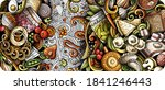 russian food hand drawn doodle... | Shutterstock .eps vector #1841246443