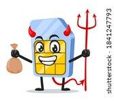 vector illustration of sim card ... | Shutterstock .eps vector #1841247793