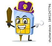 vector illustration of sim card ... | Shutterstock .eps vector #1841247796