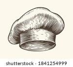 chef hat sketch. restaurant... | Shutterstock .eps vector #1841254999