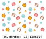 colored pumpkins  cute vector... | Shutterstock .eps vector #1841256919