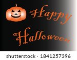 happy halloween with a scary... | Shutterstock .eps vector #1841257396