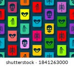 day of the dead pattern... | Shutterstock .eps vector #1841263000