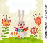 cute spring card with funny...   Shutterstock .eps vector #184126739