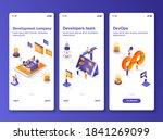 development company isometric...