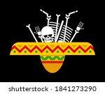 bones in sombrero. day of dead... | Shutterstock .eps vector #1841273290