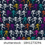 day of dead in mexico pattern... | Shutterstock .eps vector #1841273296
