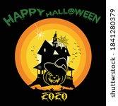 happy halloween banner or party ... | Shutterstock .eps vector #1841280379