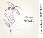 hand drawing floral background... | Shutterstock .eps vector #184130210