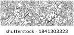 happy halloween hand drawn... | Shutterstock .eps vector #1841303323