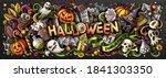 happy halloween hand drawn... | Shutterstock .eps vector #1841303350