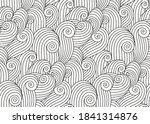 coloring book page doodle... | Shutterstock .eps vector #1841314876