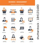 business management icons... | Shutterstock .eps vector #184131680
