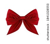 realistic red bow for... | Shutterstock .eps vector #1841328553