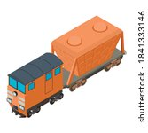 Hopper Car Icon. Isometric...