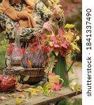 A Woman In An Autumn Dress...