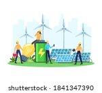 vector illustration renewable... | Shutterstock .eps vector #1841347390