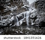 Cameron Falls During The Winter ...