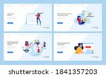 web page design templates...   Shutterstock .eps vector #1841357203