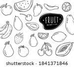 vector set of hand drawn...   Shutterstock .eps vector #1841371846
